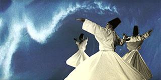 Sema Zeremonie der wirbelnden Derwische. Dschalal ad-Din Rumi / Reshad Feild: Dem Morgen entgegendrehen.
