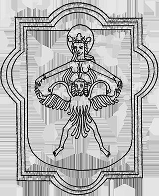 Christus, in den doppelköpfigen Adler des Quecksilbers gekleidet.
