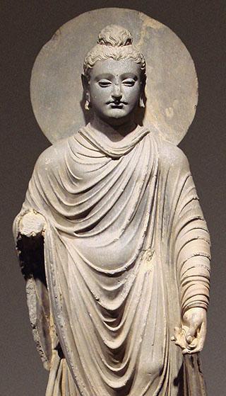 Buddha-Darstellung, Gandhara, Pakistan.