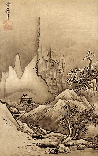 Herbst- und Winterlandschaft des japanischen Malers Sesshu Toyo, fünzehntes Jahrhundert.