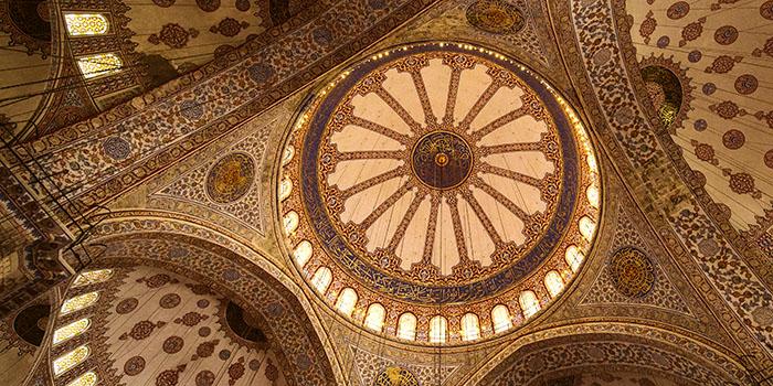 Sultan-Ahmed-Moschee oder Blaue Moschee in Istanbul.