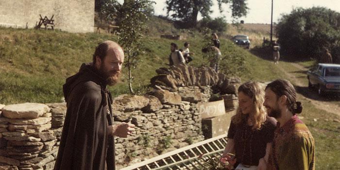 Reshad Feild auf der Swyre Farm 1972.