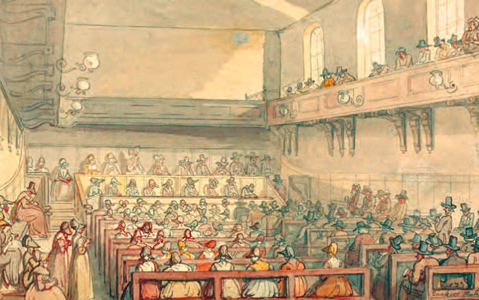 Quakers' Meeting, Thomas Rowlandson