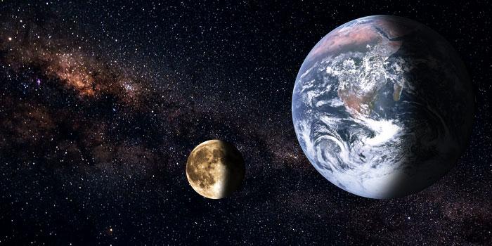 Erde, Mond, Galaxie