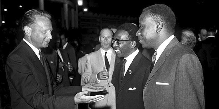 Dag Hammarskjöld in Lépoldville, 15 September 1961