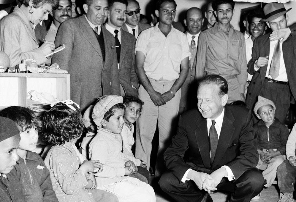 Dag Hammarskjöld, 1. Mai 1956, Israel, Kindergarten