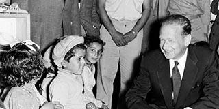 Dag Hammerskjöld, 1956, Israel