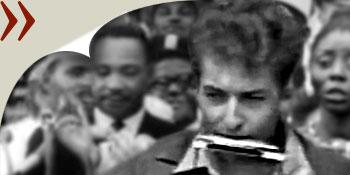 Bob Dylan beim Marsch auf Washington