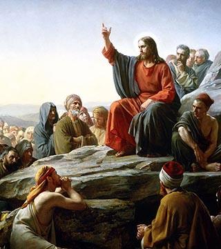 Jesus im Gemäde »Bergüredigt« von Carl Bloch (1877)