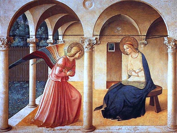 Verkündigung, Fresko von Fra Angelico
